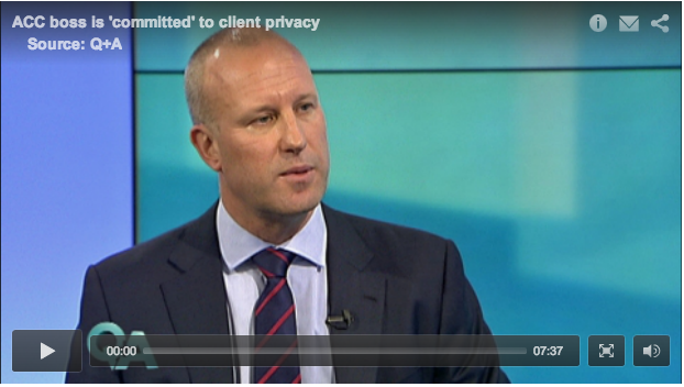 ACC CE Scott Pickering on TVNZ's Q&A August 19